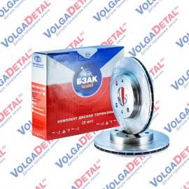 Комплект дисков тормозных ВАЗ-2110  (вентилируемые R13  - 2 шт.)  БЗАК